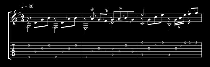 Solo Guitar Arrangement | The Queen Of Sheba